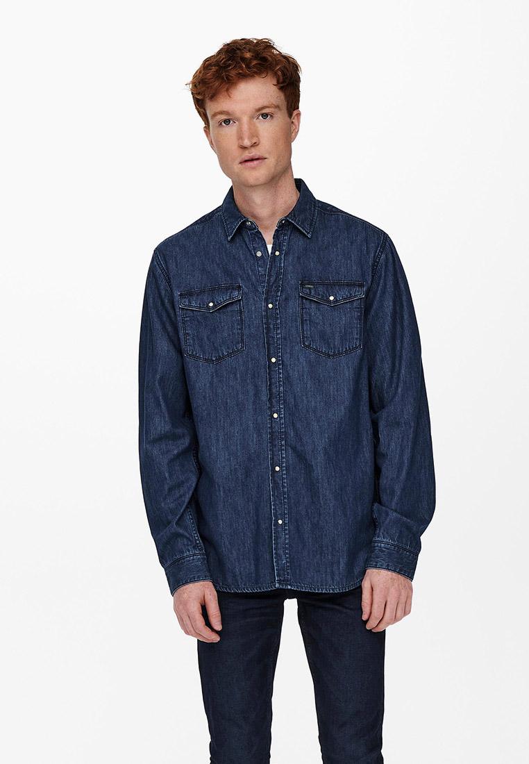 Рубашка с длинным рукавом Only & Sons (Онли Энд Санс) Рубашка джинсовая Only & Sons