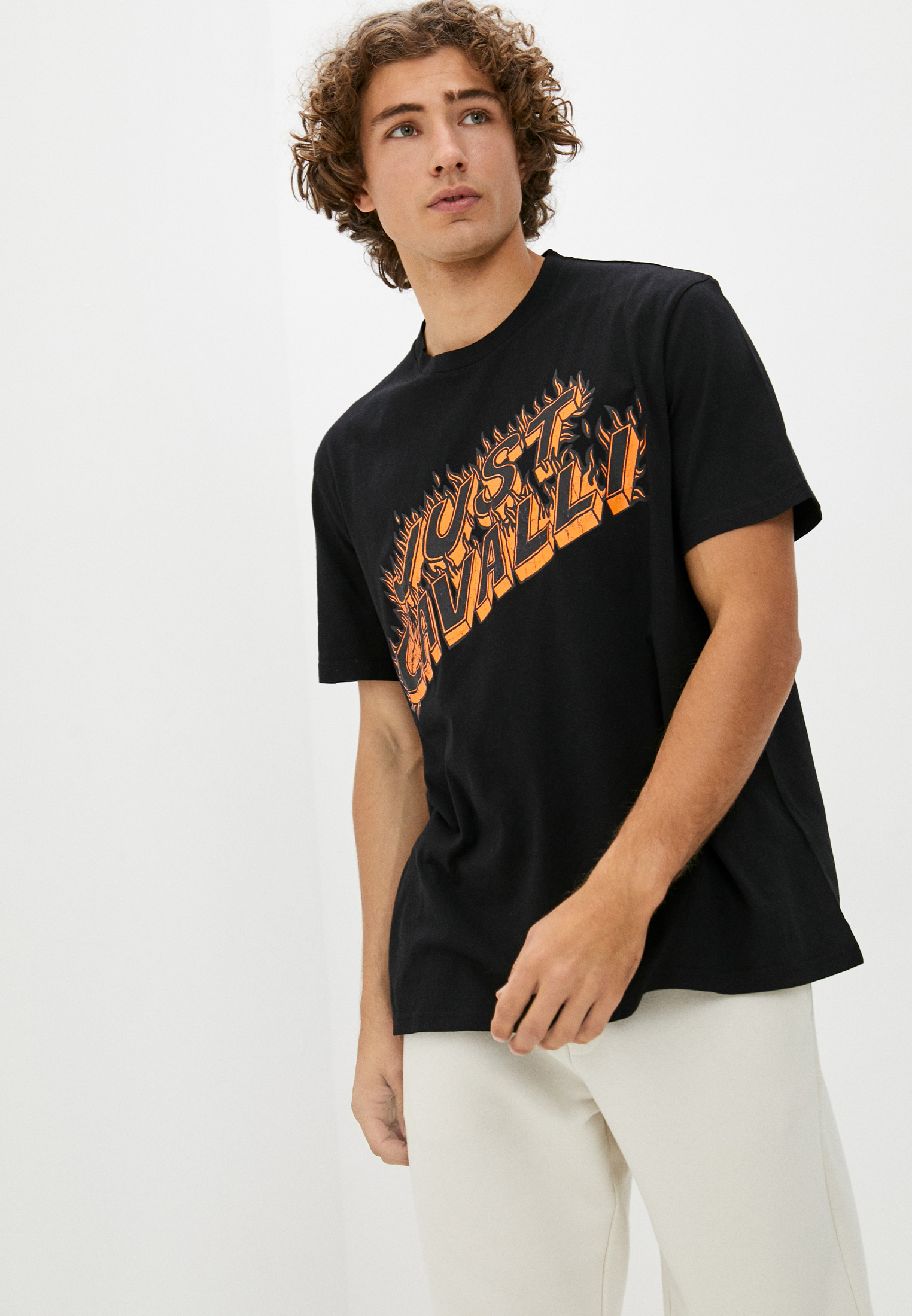 Мужская футболка Just Cavalli (Джаст Кавалли) S03GC0630N20663