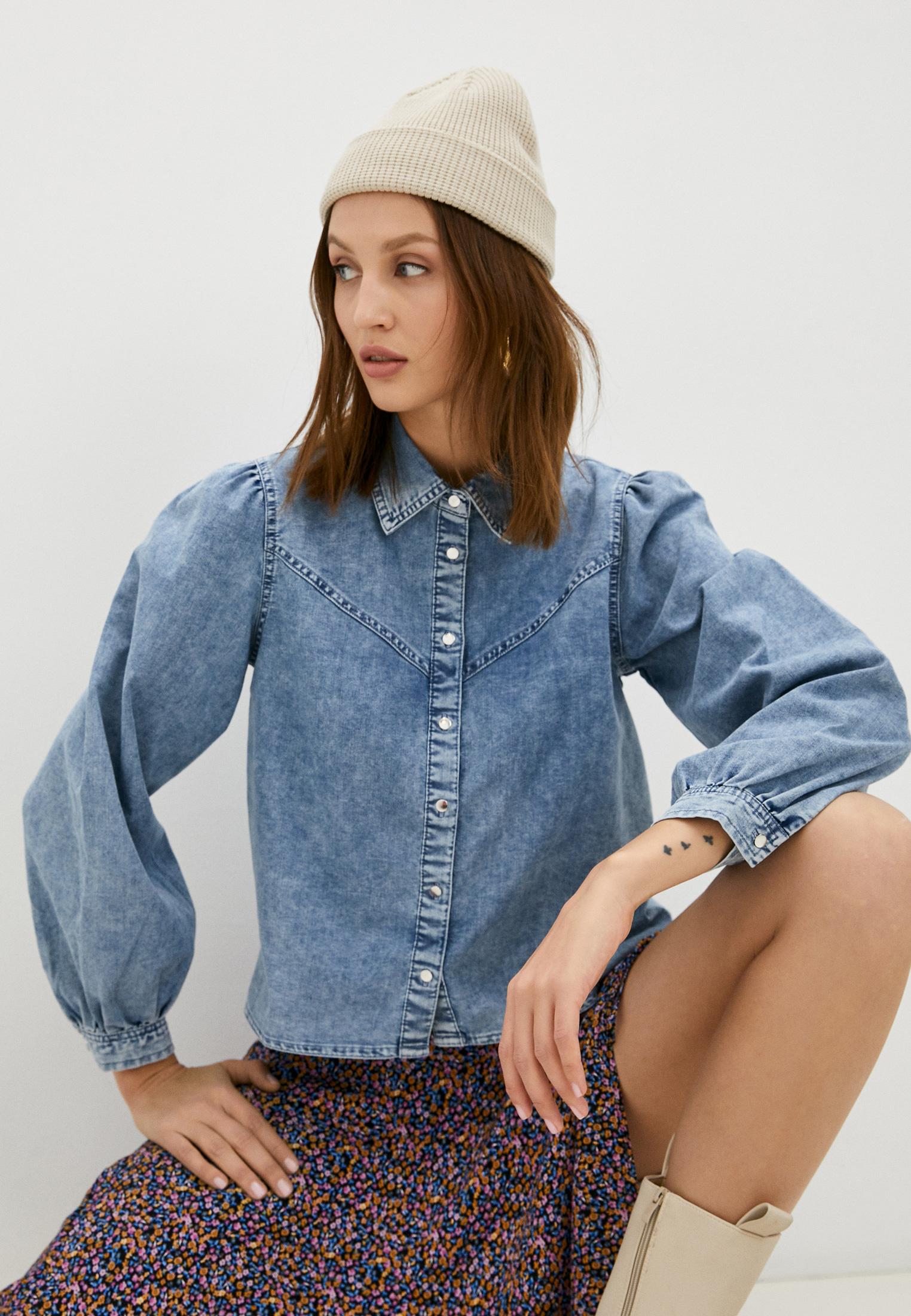 Женские рубашки с длинным рукавом Pimkie Рубашка джинсовая Pimkie