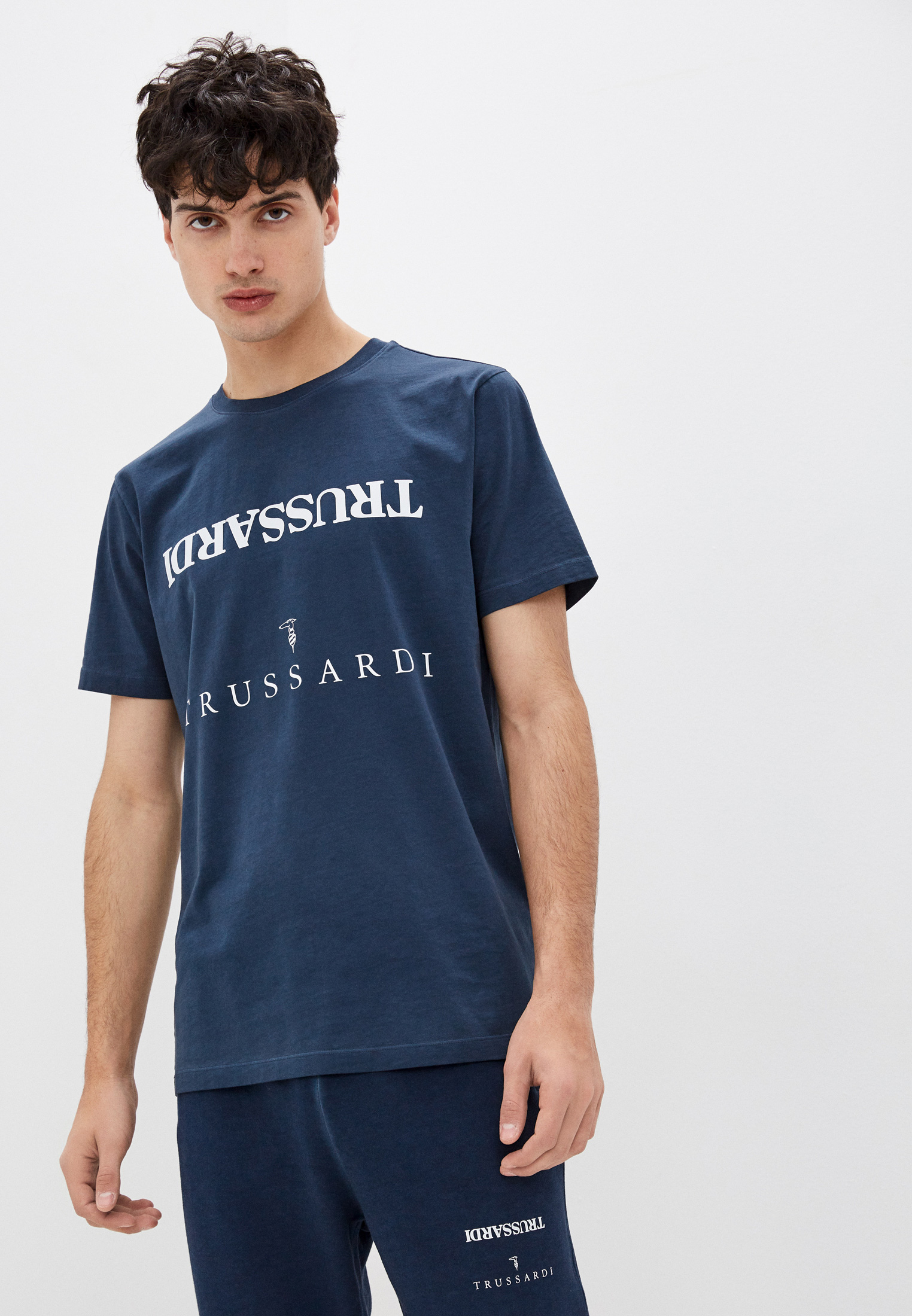 Мужская футболка Trussardi (Труссарди) 52T00543-1T005625