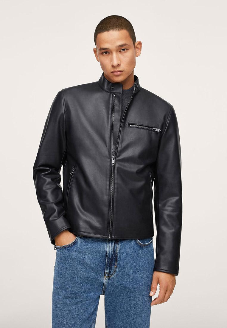 Кожаная куртка Mango Man Куртка кожаная Mango Man