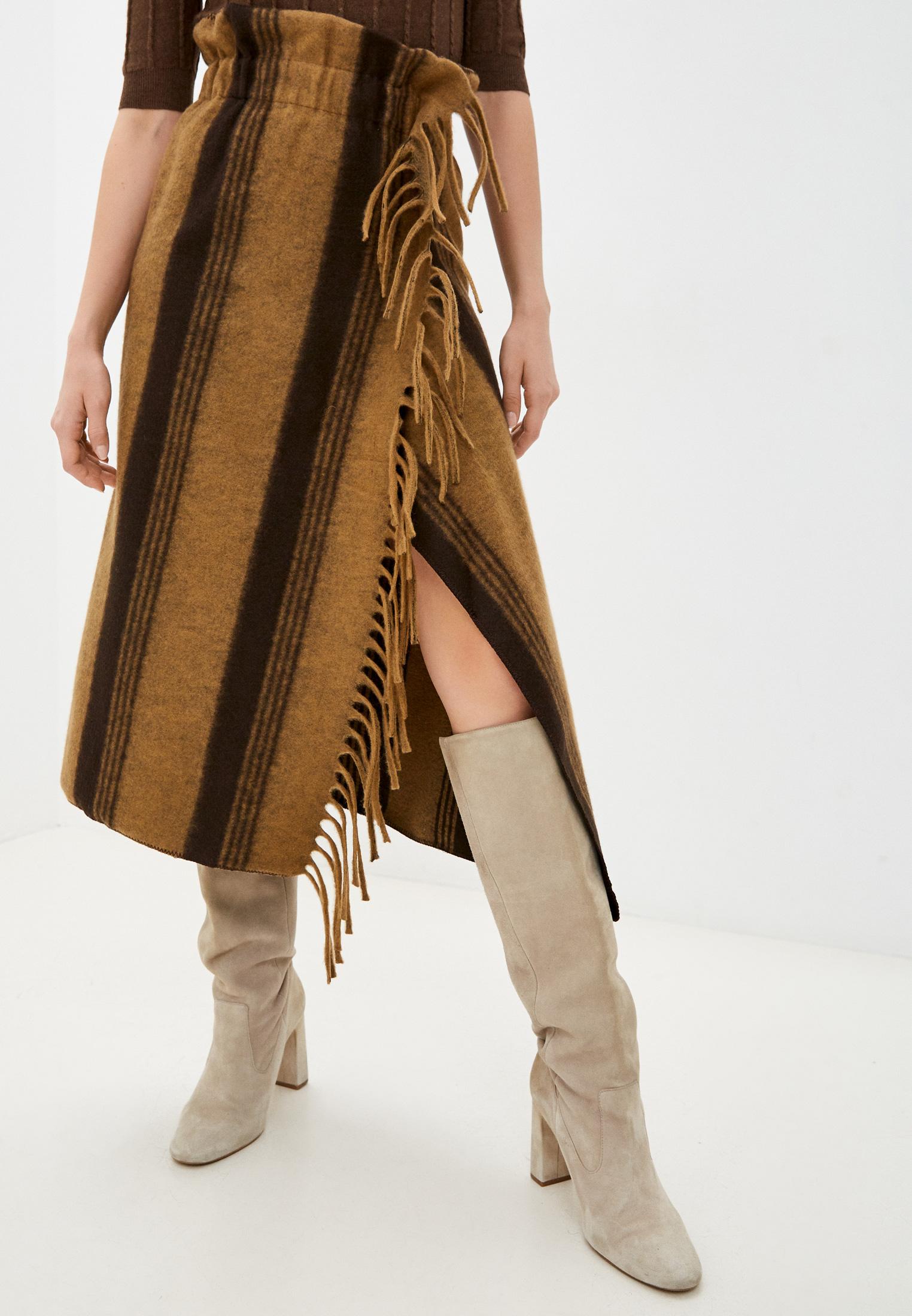 Широкая юбка Sisley 45YT506R7