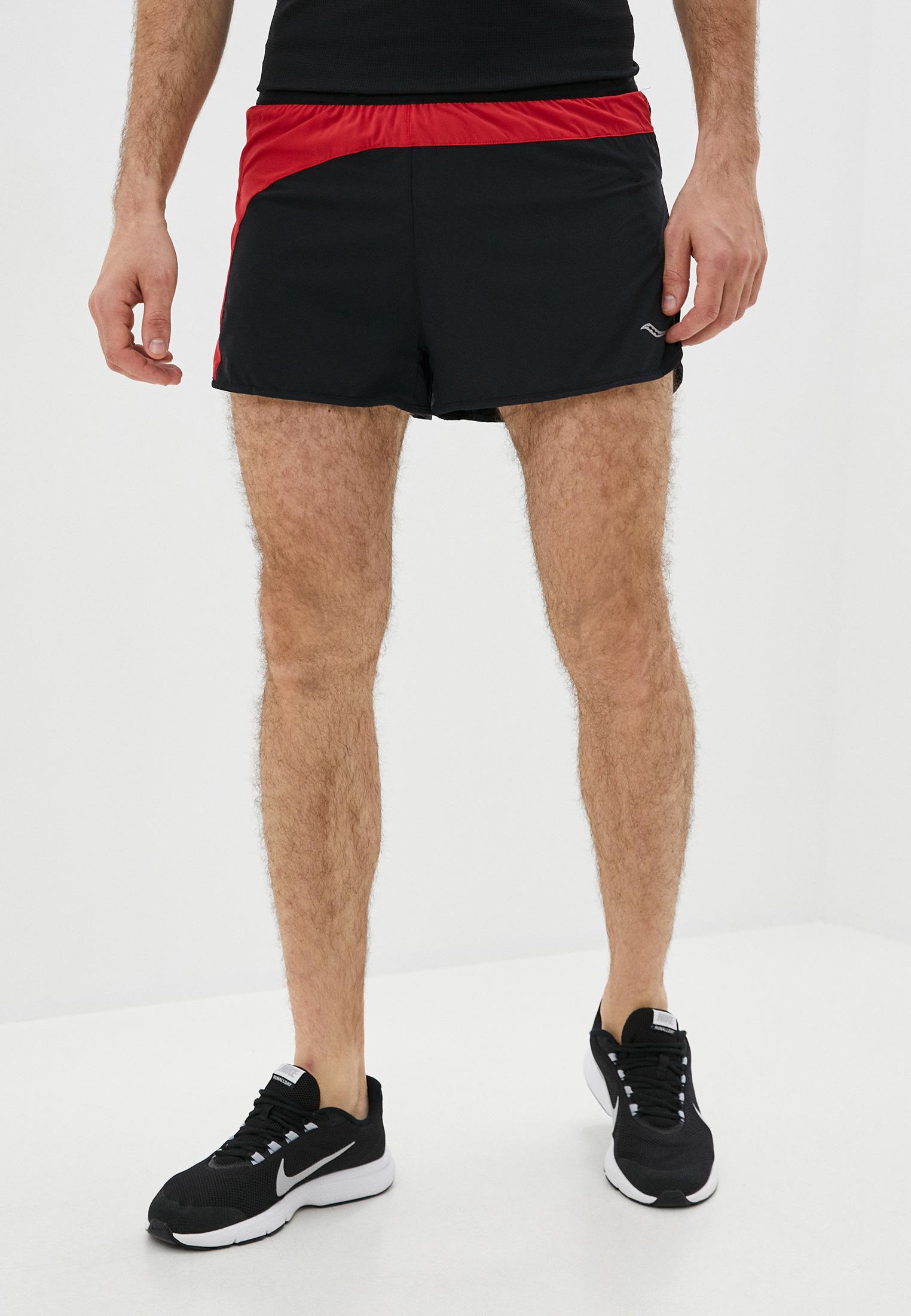 Мужские шорты Saucony SAM800205-BKRED