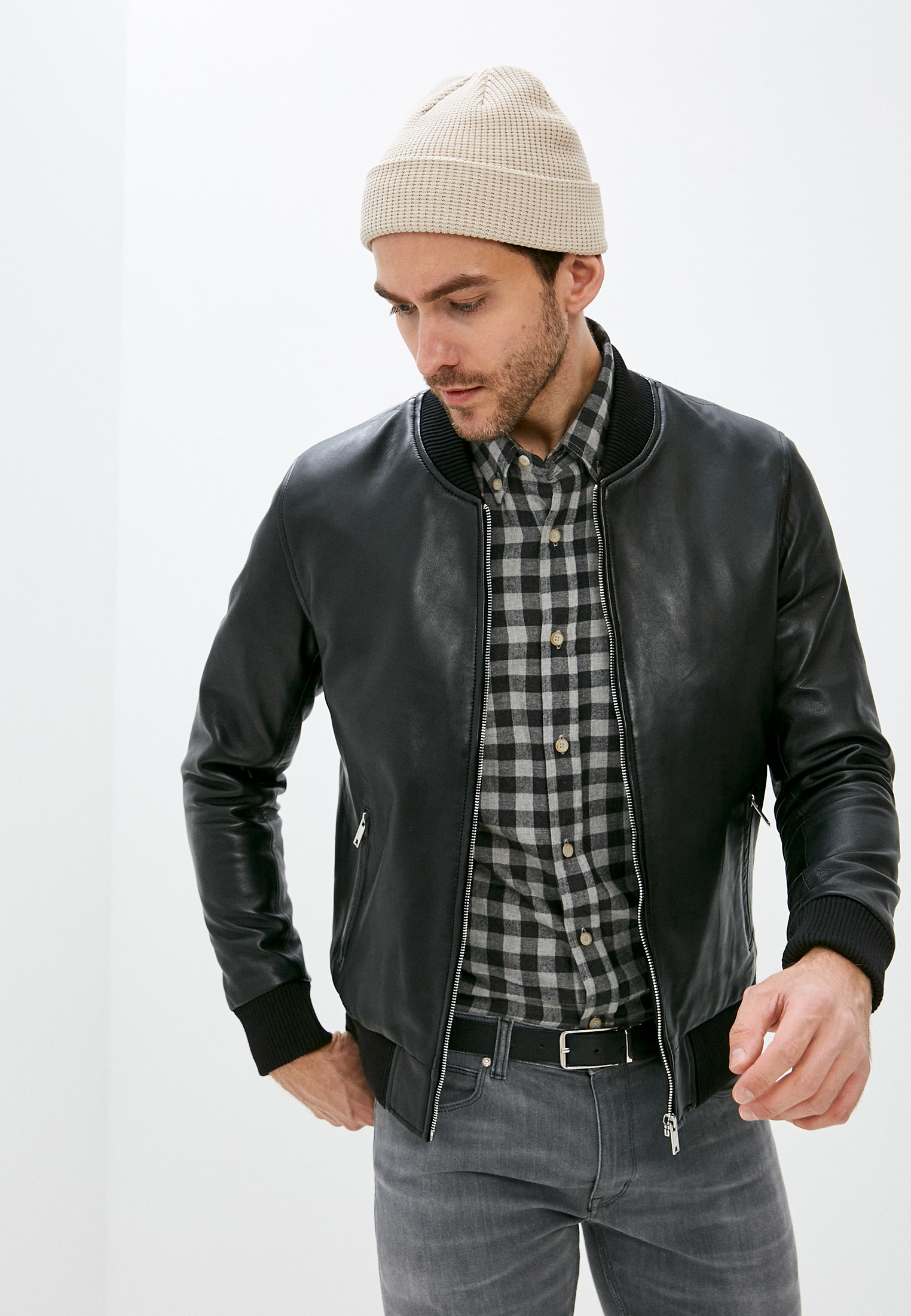 Кожаная куртка Serge Pariente Куртка кожаная Serge Pariente