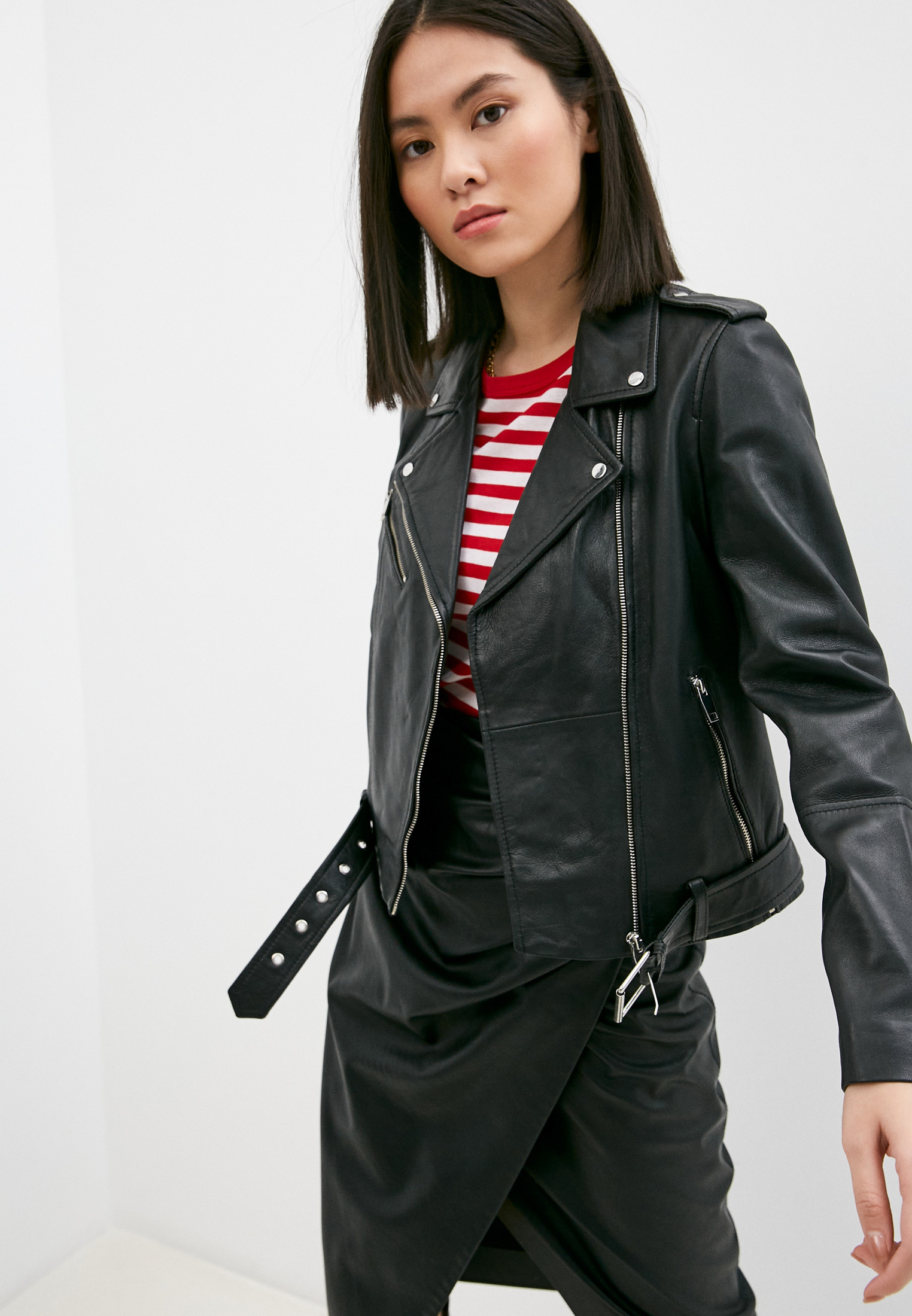 Кожаная куртка Serge Pariente GIRLY