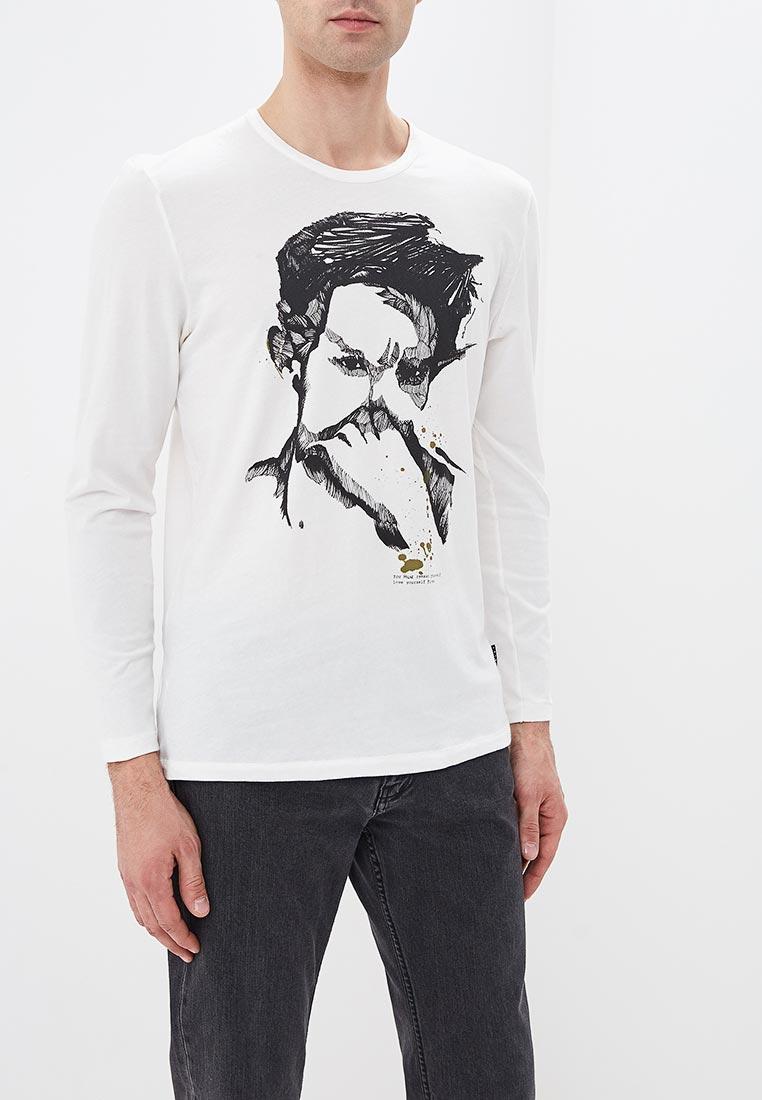 716a834236d3e Белые мужские лонгсливы - купить белую футболку с длинным рукавом в ...