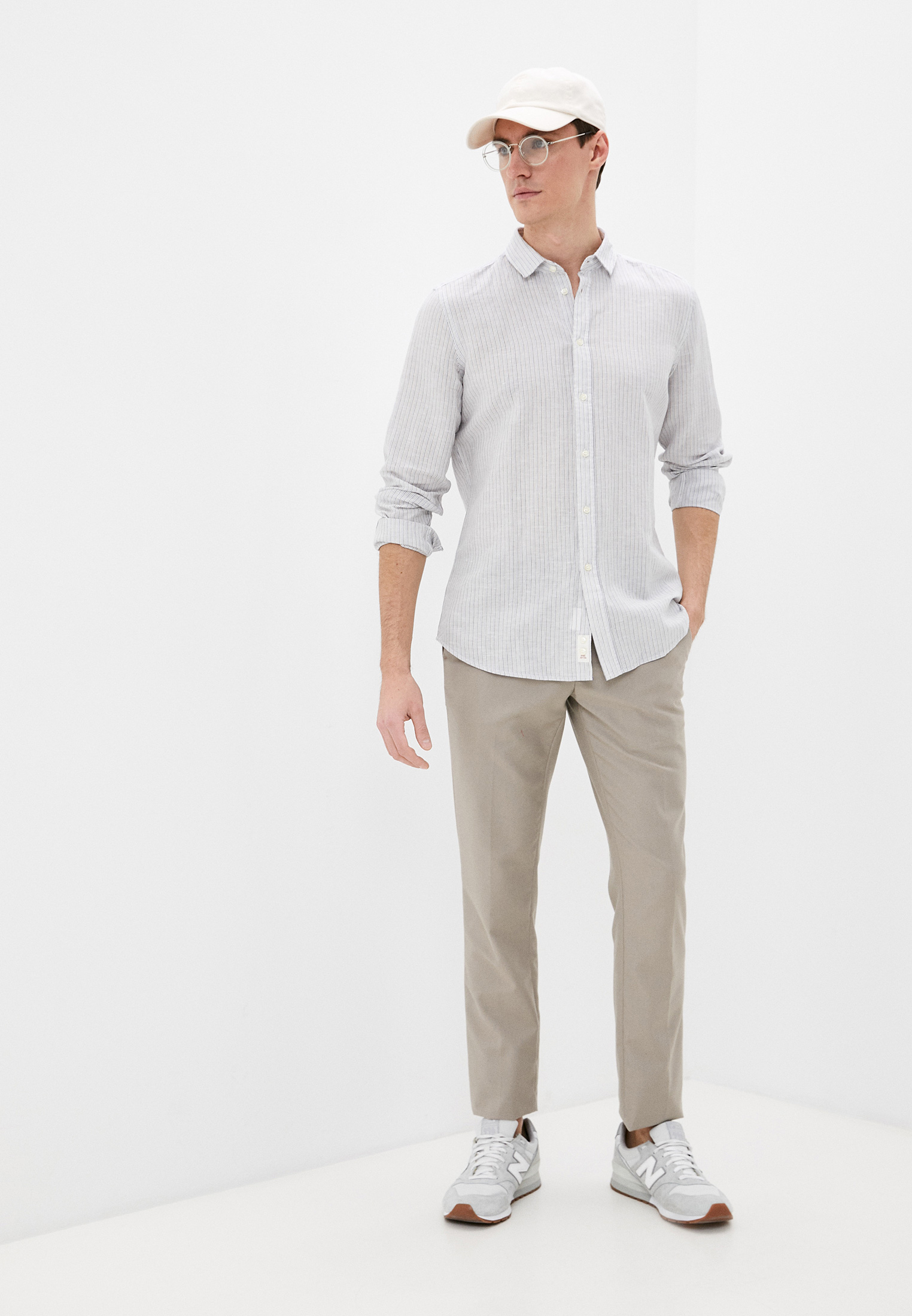 Рубашка с длинным рукавом Sisley (Сислей) 5EV55QFR9: изображение 2