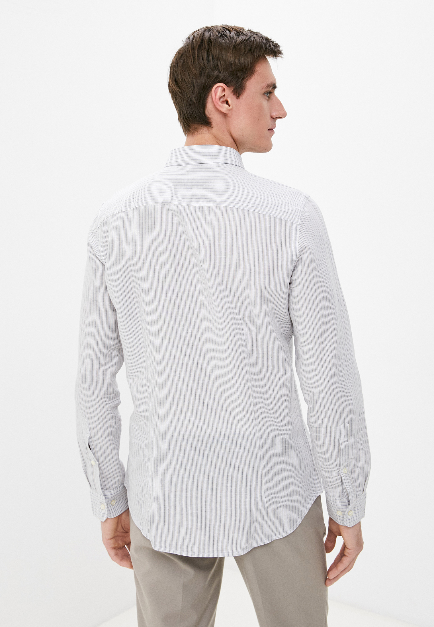 Рубашка с длинным рукавом Sisley (Сислей) 5EV55QFR9: изображение 3