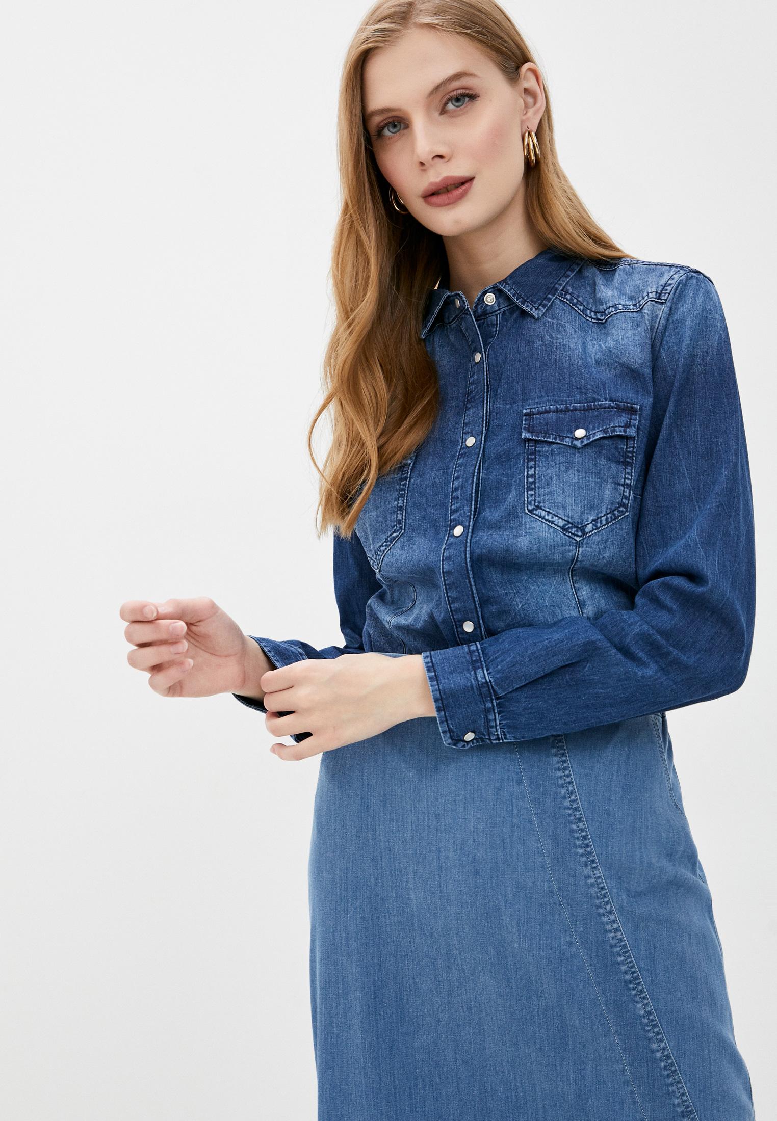 Женские джинсовые рубашки Sisley 5AVA5QD57