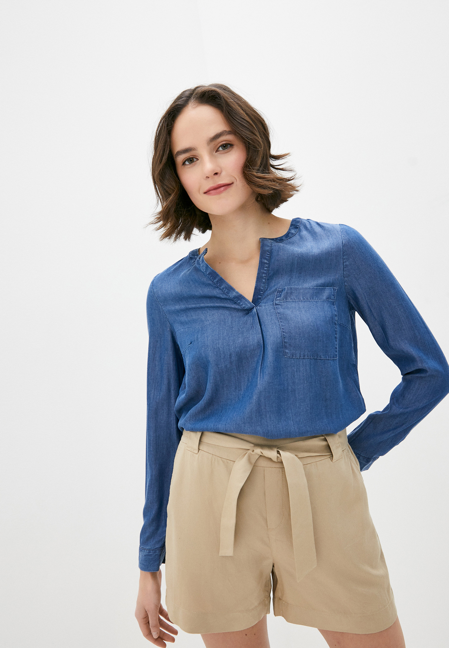 Женские джинсовые рубашки s.Oliver (с.Оливер) 14.003.11.2866