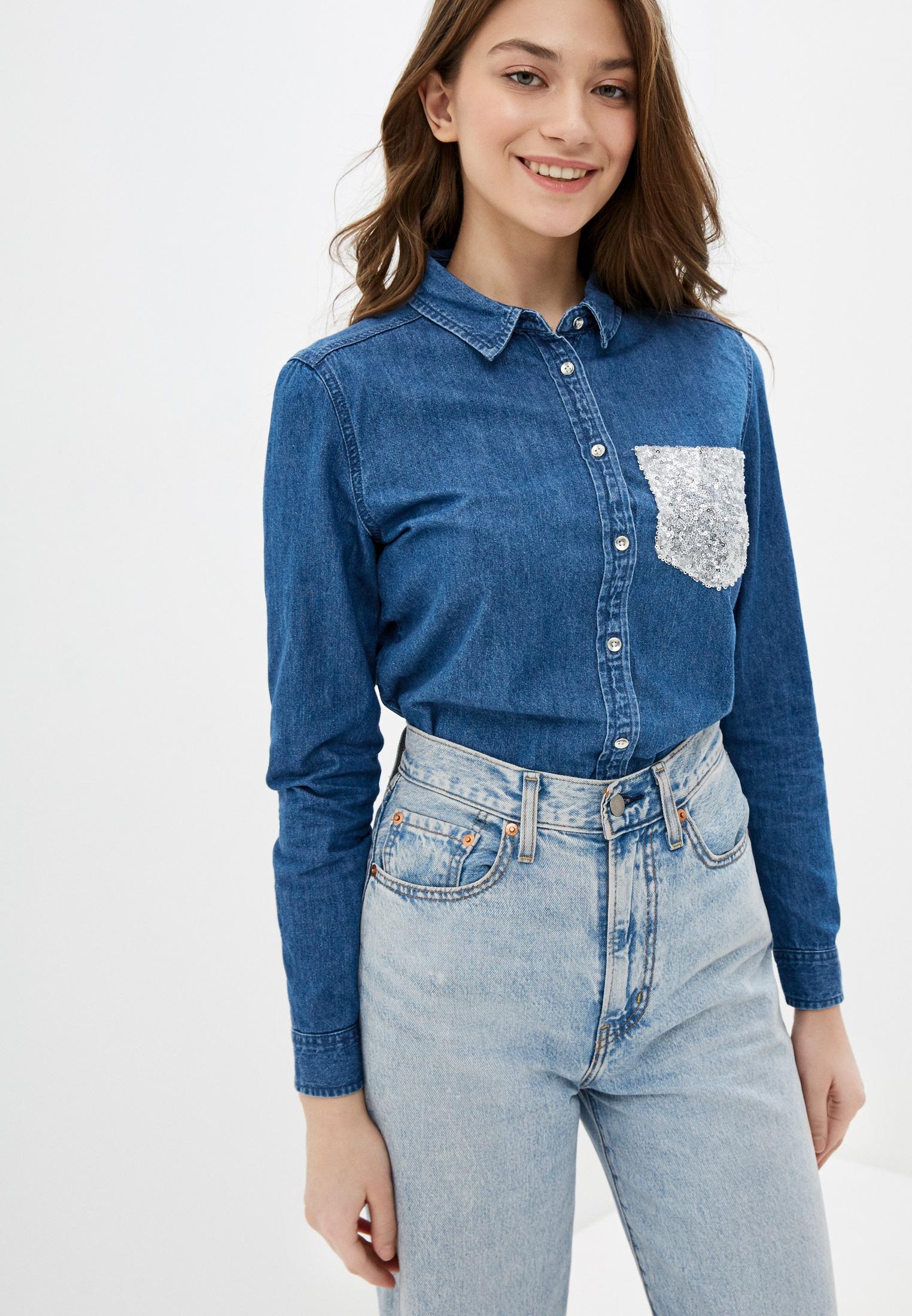 Женские джинсовые рубашки Springfield (Спрингфилд) 6797288