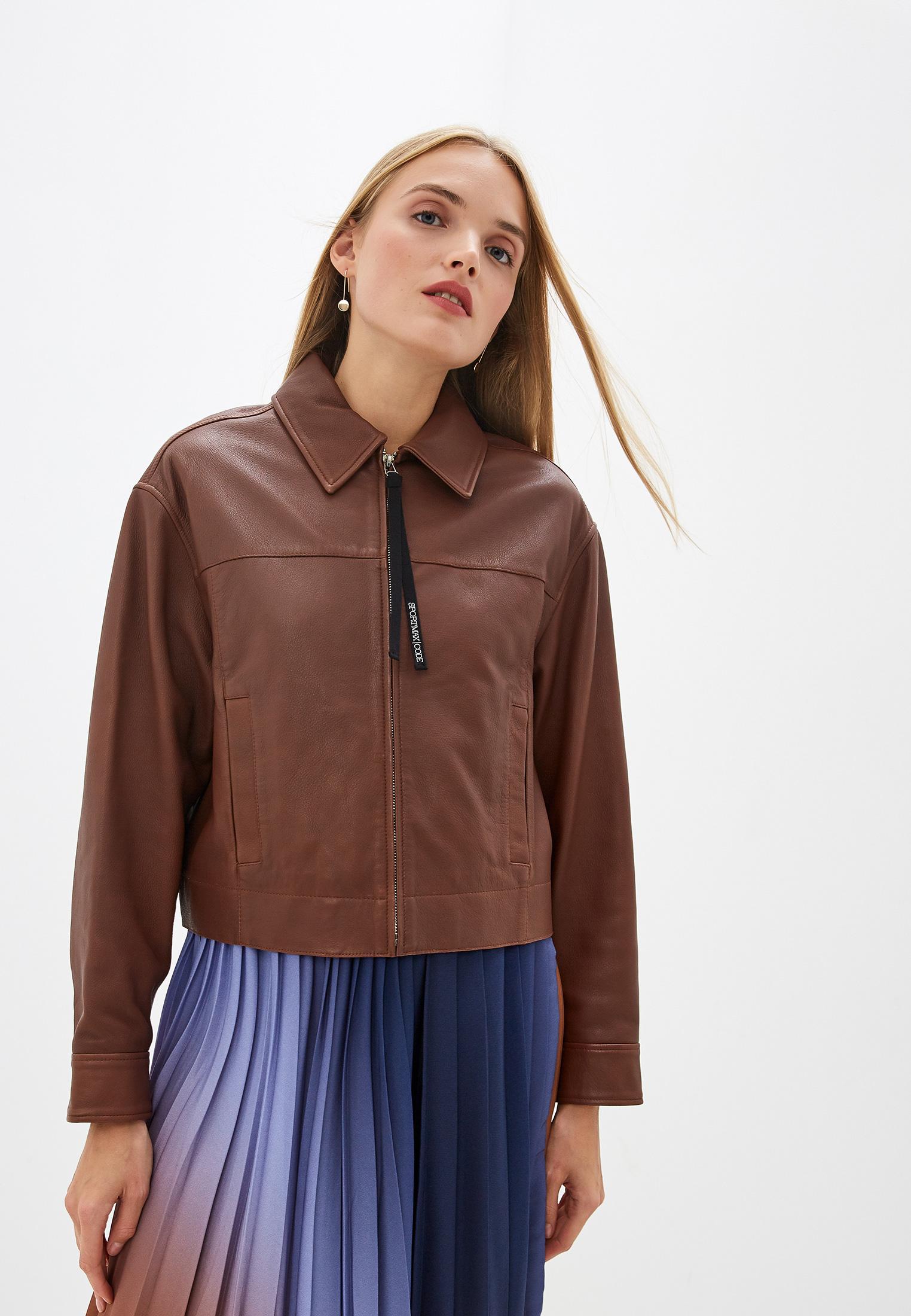 Кожаная куртка Sportmax Code BRIANZA