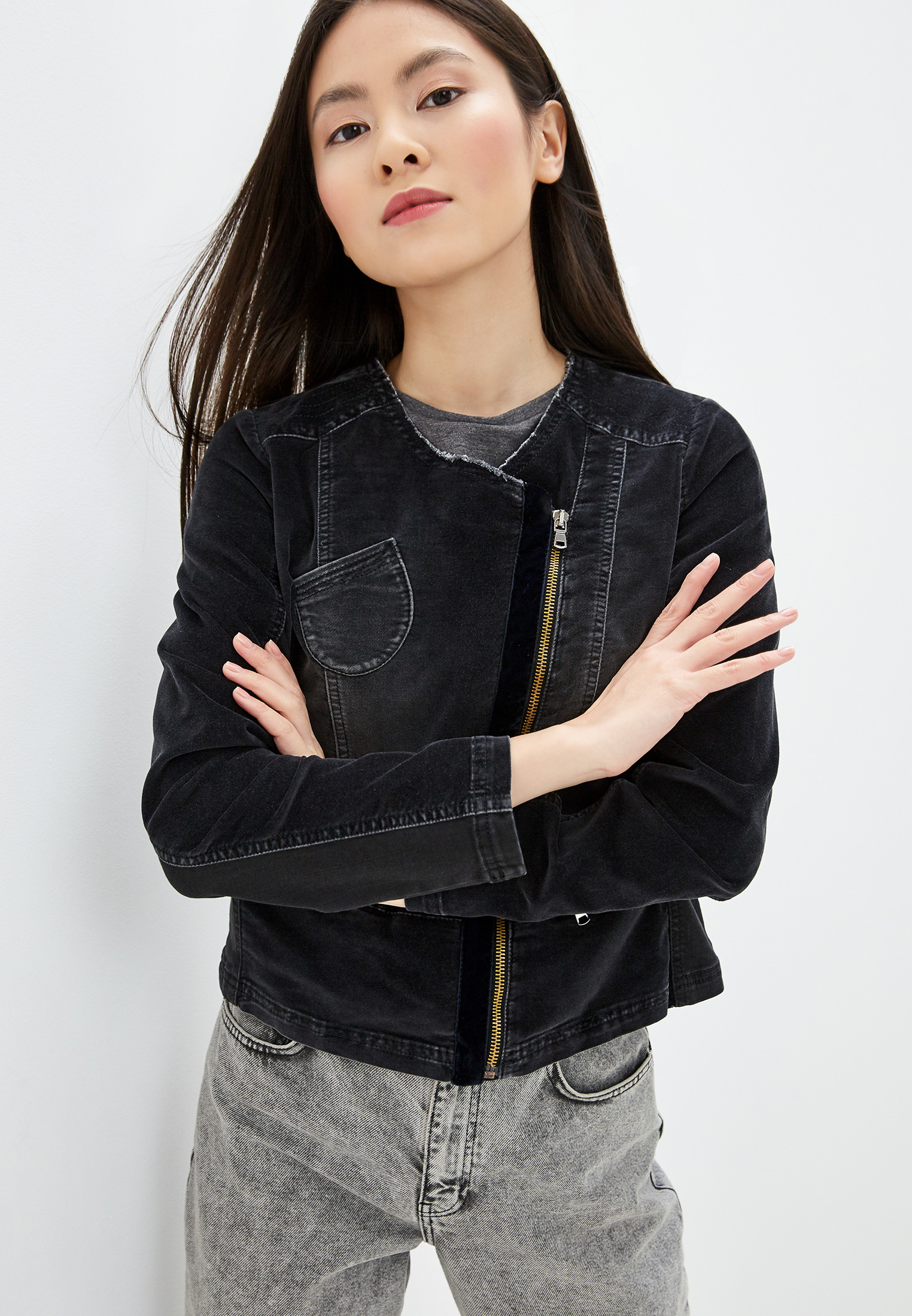 Джинсовая куртка Taifun 330035-17033