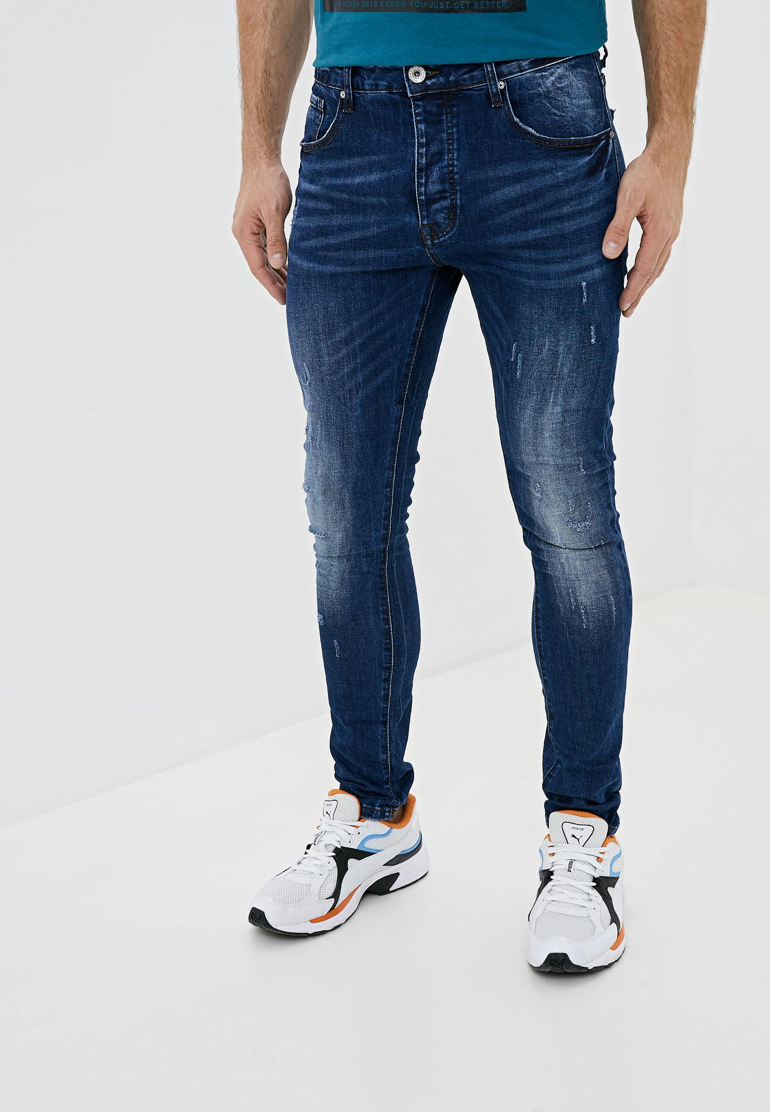 Зауженные джинсы Terance Kole 66072