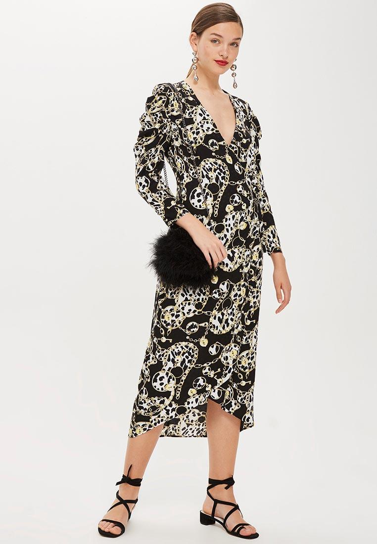 Вечернее / коктейльное платье Topshop (Топ Шоп) 10S05PBLK