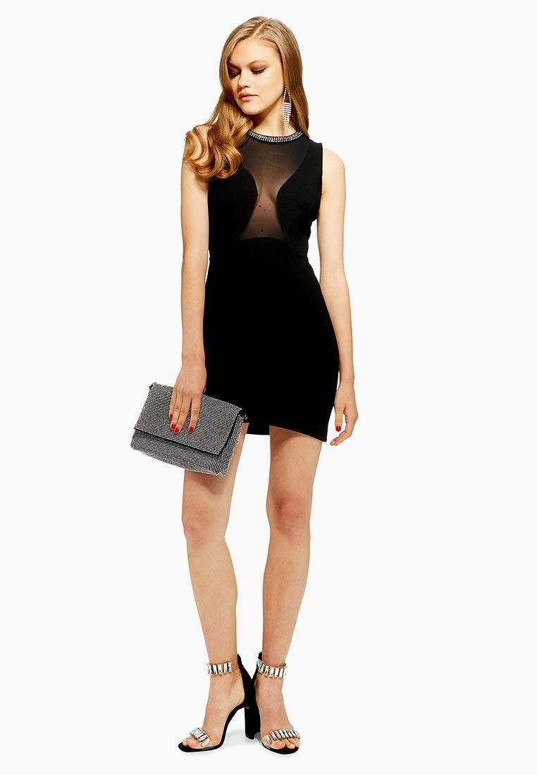 Вечернее / коктейльное платье Topshop (Топ Шоп) 10A18PBLK