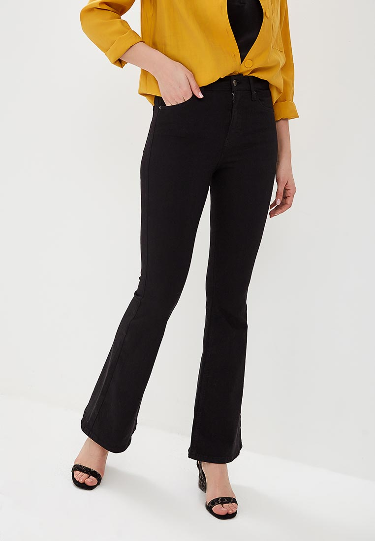 Широкие и расклешенные джинсы Topshop (Топ Шоп) 02F07QBLK