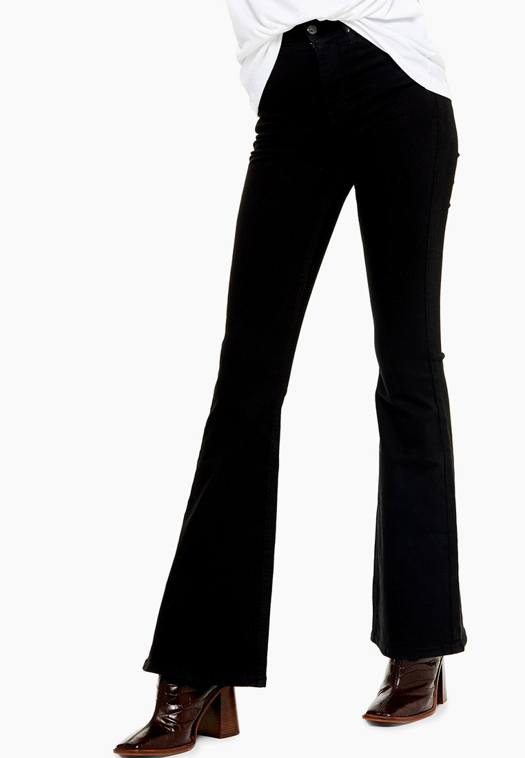 Широкие и расклешенные джинсы Topshop (Топ Шоп) 02F18RBLK