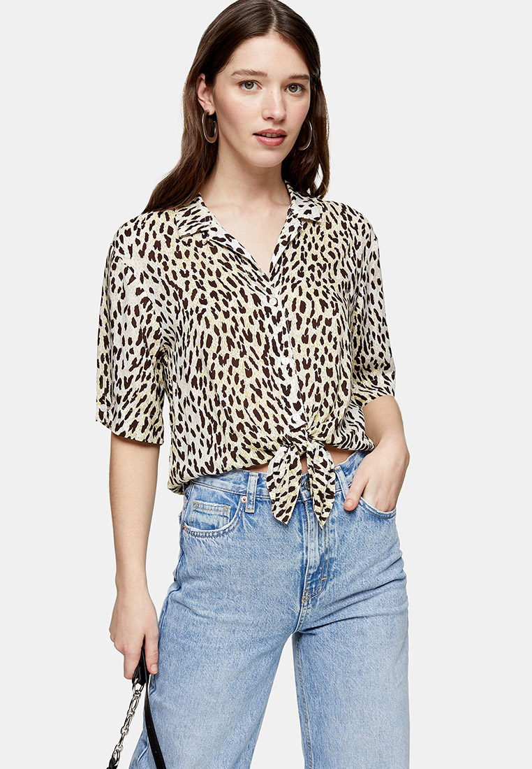 Рубашка с коротким рукавом Topshop (Топ Шоп) 13L02SGRN
