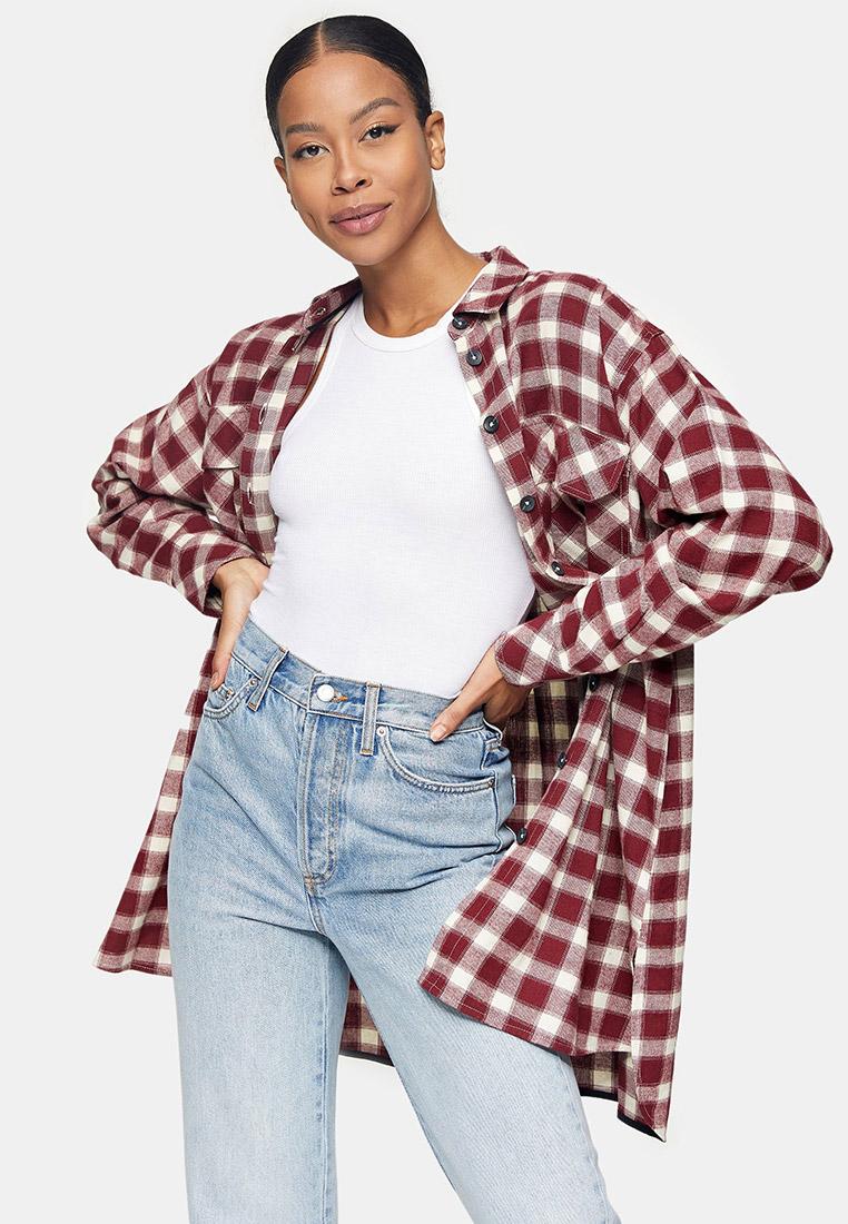 Женские рубашки с длинным рукавом Topshop (Топ Шоп) 13O15TRED