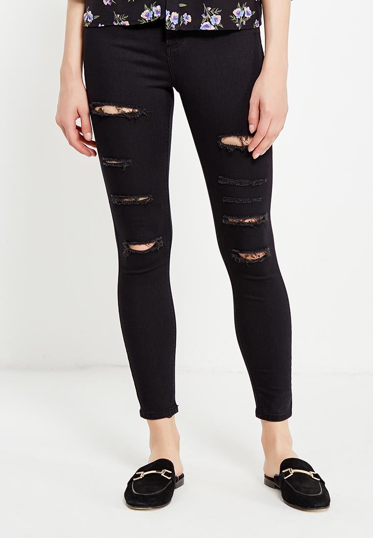 Зауженные джинсы Topshop (Топ Шоп) 02J56LBLK