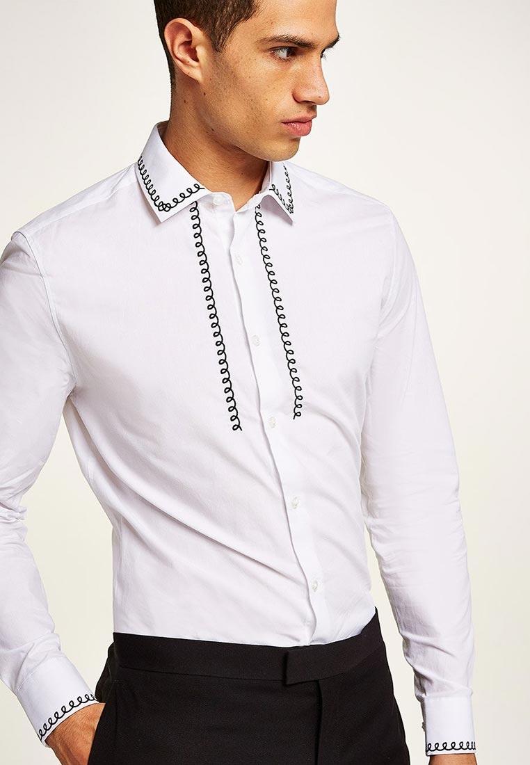Рубашка с длинным рукавом Topman (Топмэн) 84L27PWHT