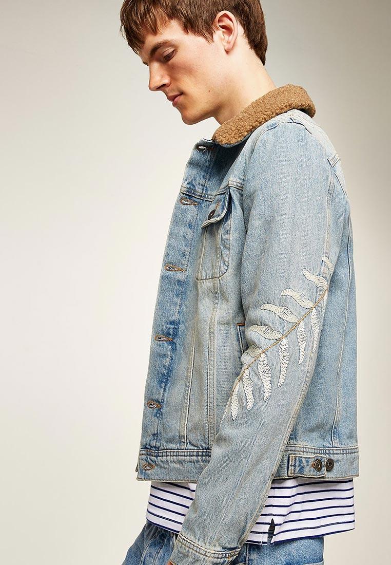 Джинсовая куртка Topman (Топмэн) 64Q08QBLE
