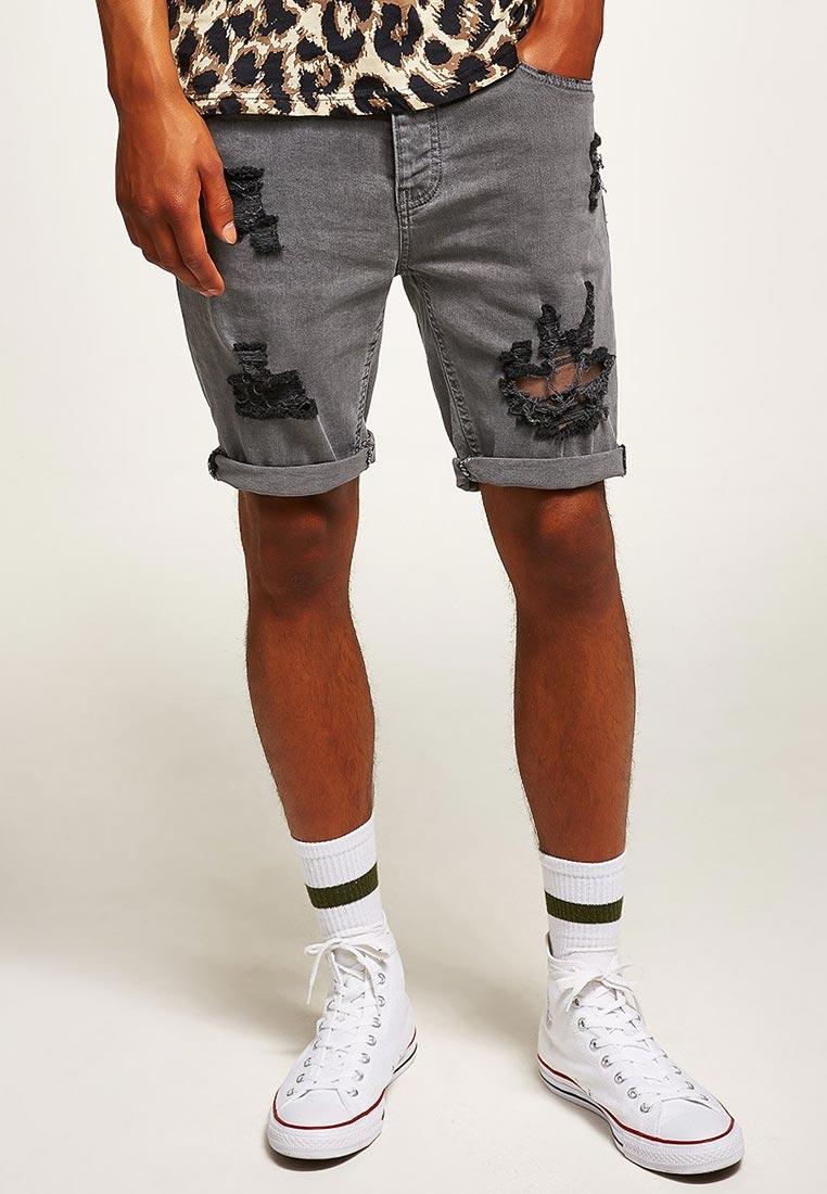 Мужские джинсовые шорты Topman (Топмэн) 33C09PGRY