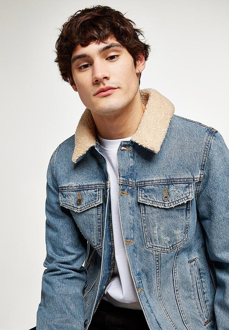 Джинсовая куртка Topman (Топмэн) 64Q01QBLE