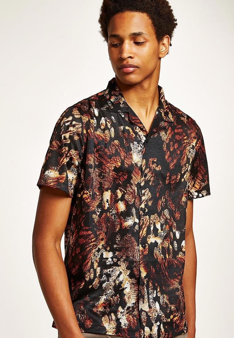 Рубашка с коротким рукавом Topman (Топмэн) 83D40PBLK