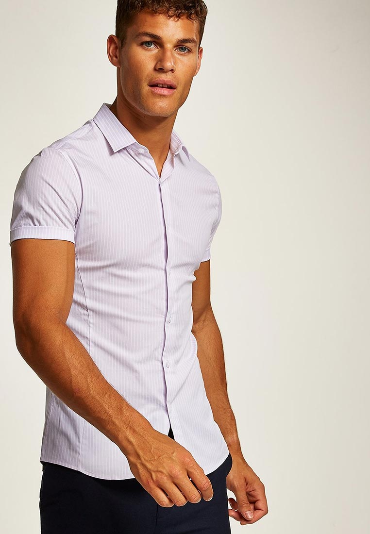 Рубашка с длинным рукавом Topman (Топмэн) 84B12PPLE
