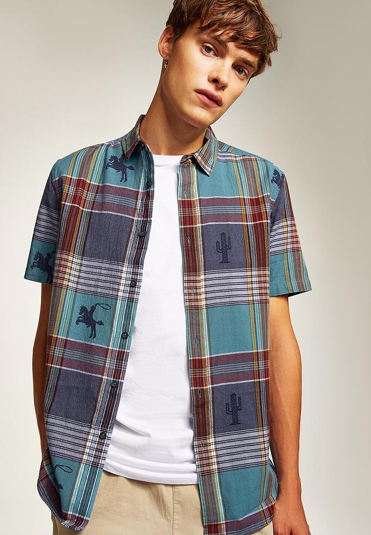 Рубашка с коротким рукавом Topman (Топмэн) 83U02PMUL