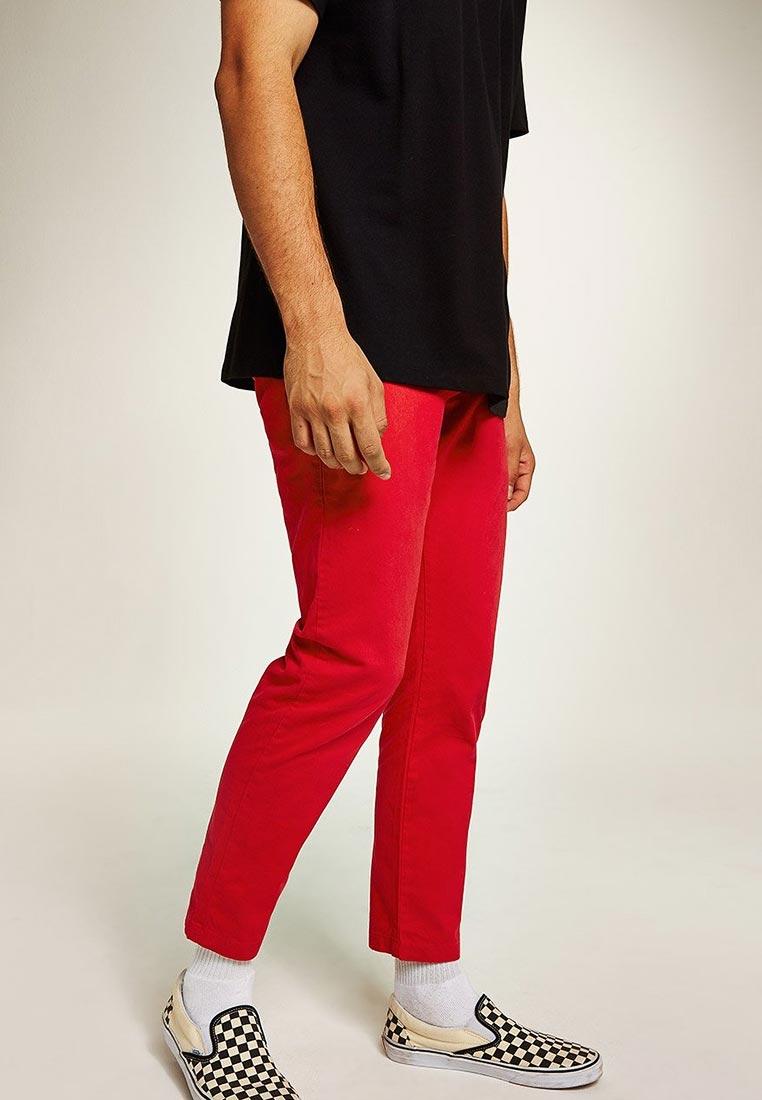 Мужские зауженные брюки Topman (Топмэн) 68F33QRED