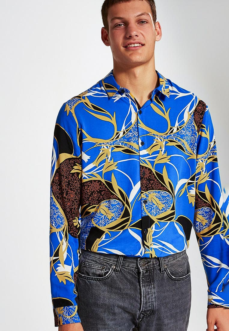 Рубашка с длинным рукавом Topman (Топмэн) 83U31OBLE