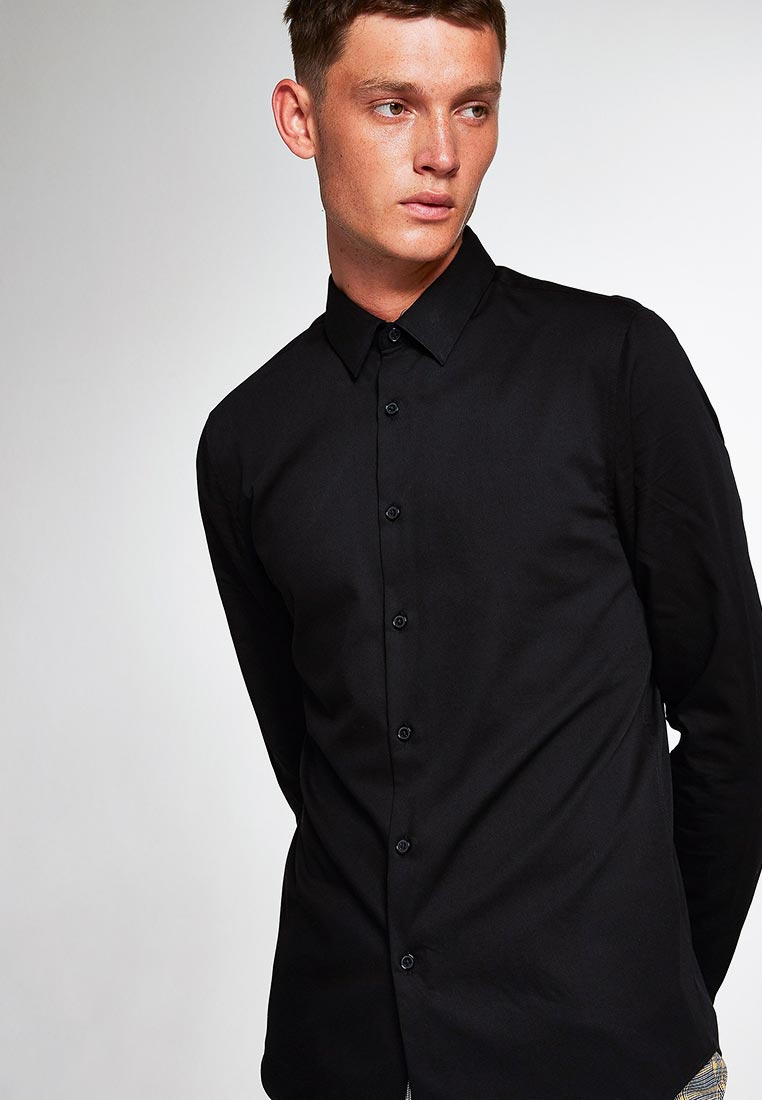 Рубашка с длинным рукавом Topman (Топмэн) 84P22PBLK