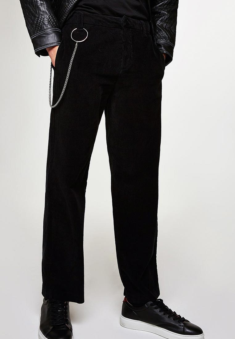 Мужские прямые брюки Topman (Топмэн) 68F13RBLK