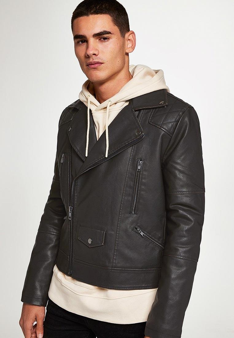 Кожаная куртка Topman (Топмэн) 64L01RBLK
