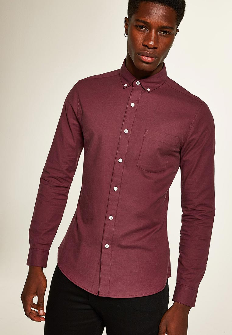 Рубашка с длинным рукавом Topman (Топмэн) 83B22PBRG
