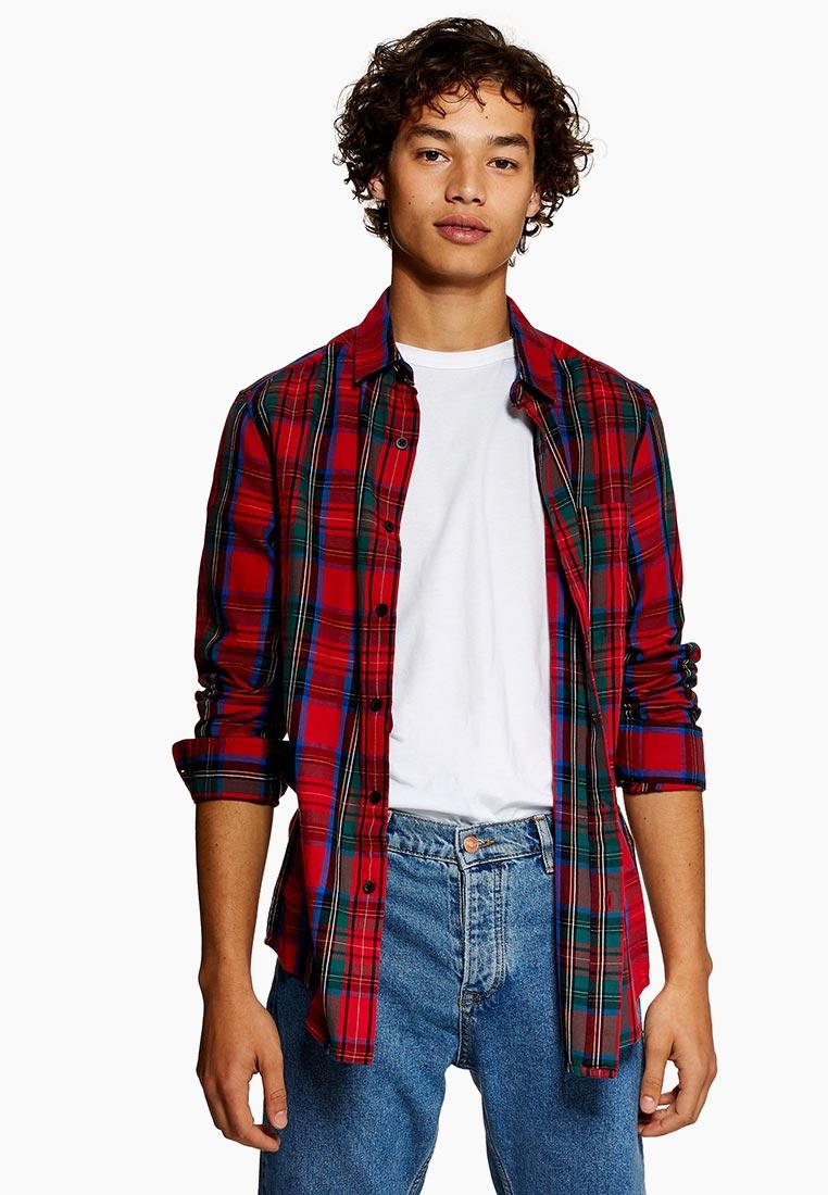 Рубашка с длинным рукавом Topman (Топмэн) 83C24PRED