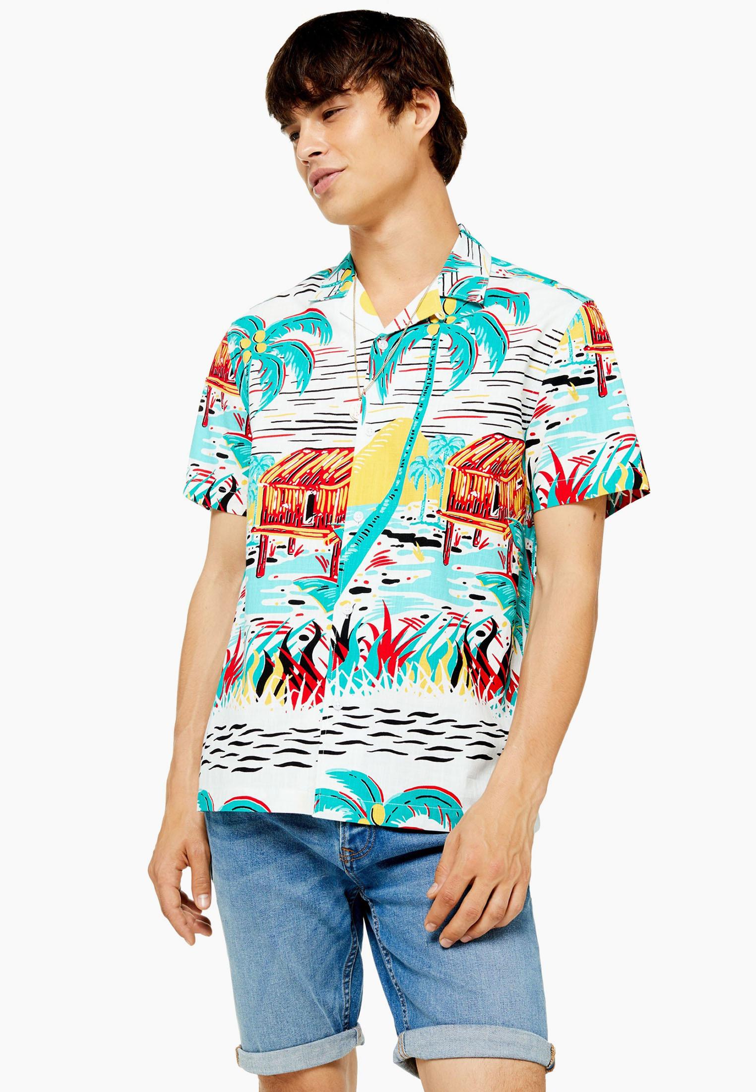 Рубашка с коротким рукавом Topman (Топмэн) 83S07DMUL