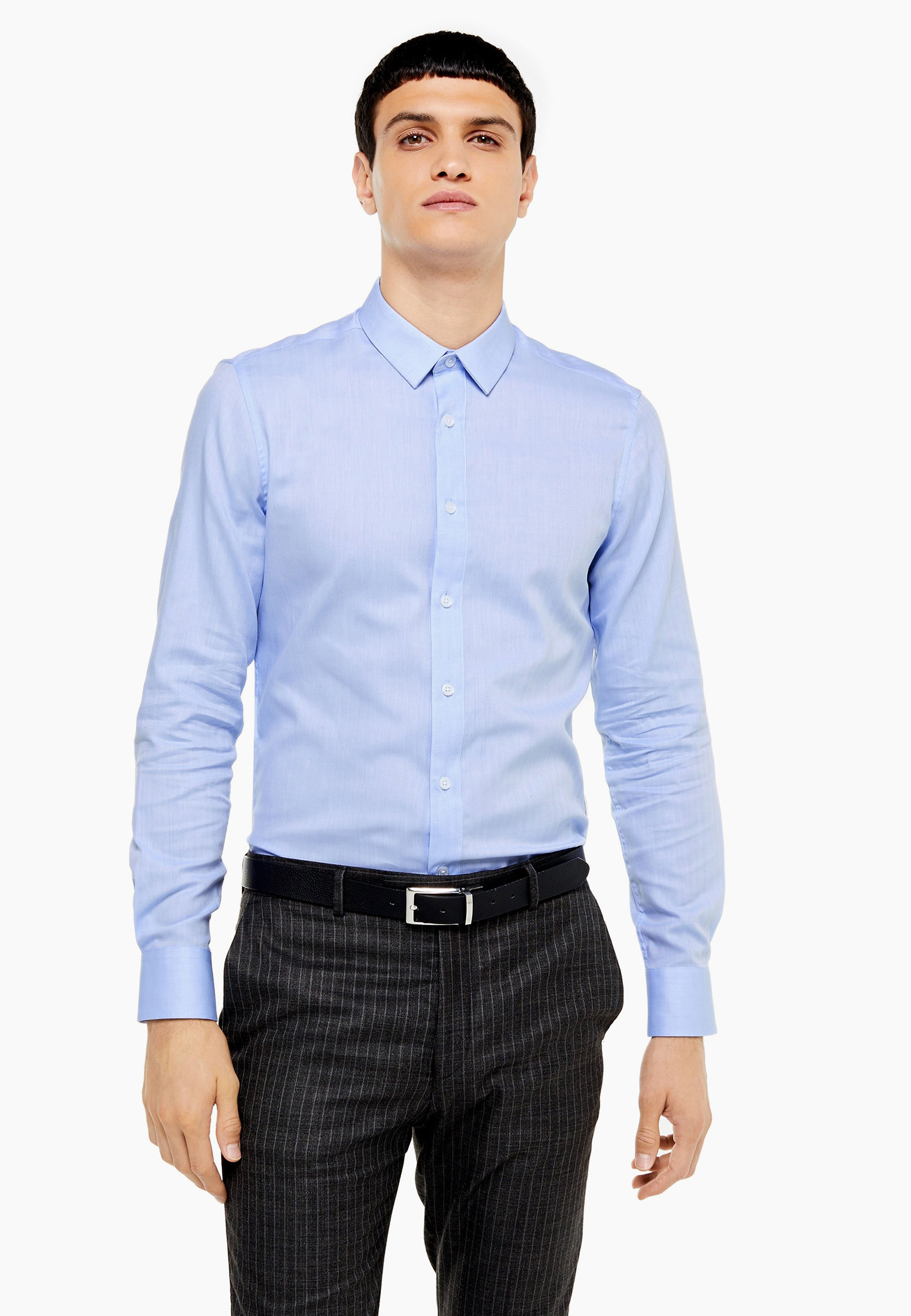 Рубашка с длинным рукавом Topman (Топмэн) 84P31QLBL