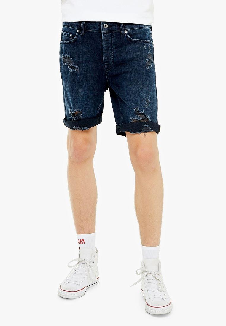 Мужские джинсовые шорты Topman (Топмэн) 33D07SBLE