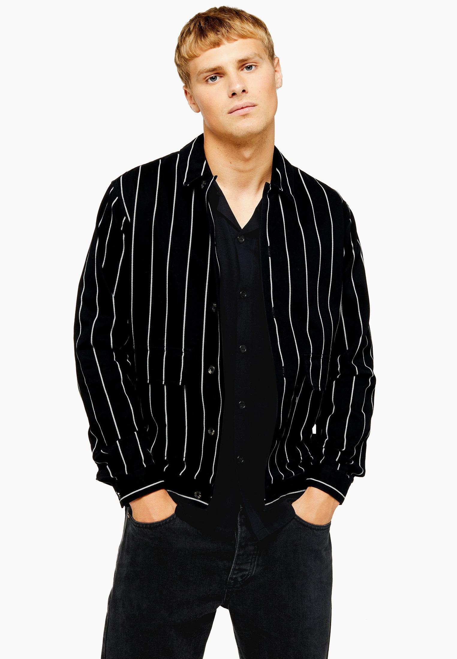 Рубашка с длинным рукавом Topman (Топмэн) 83S04OBLK