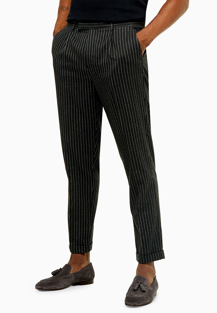 Мужские повседневные брюки Topman (Топмэн) 88D17TGRY