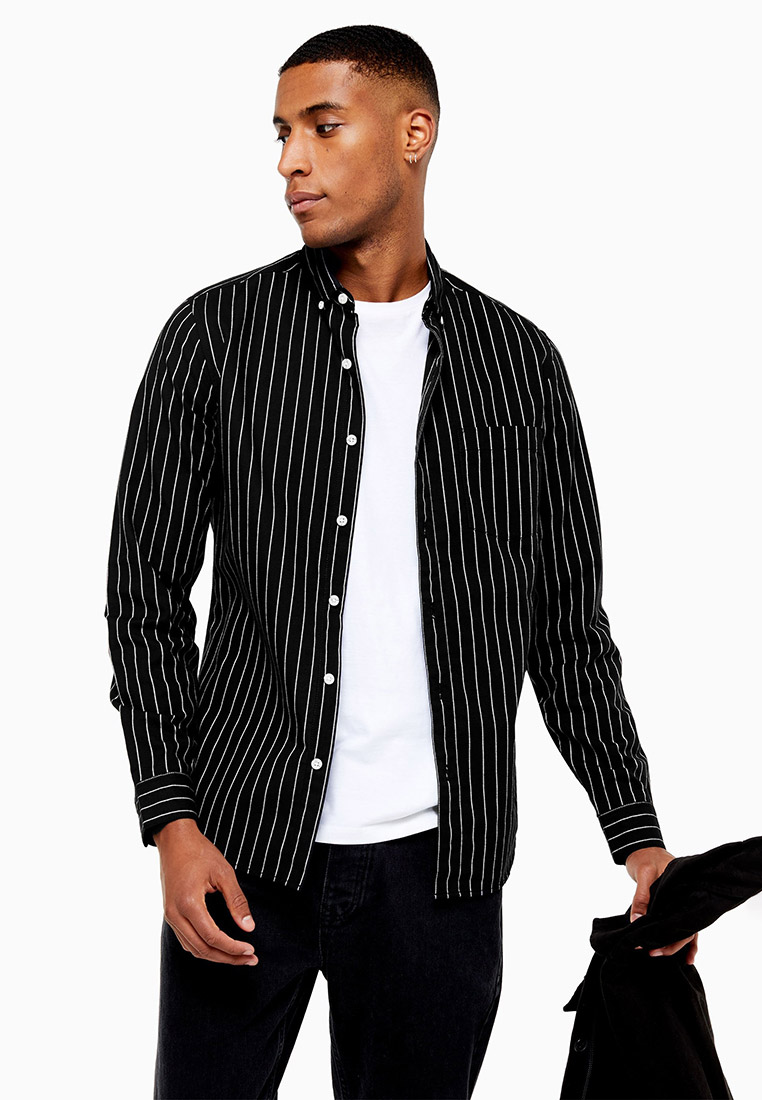 Рубашка с длинным рукавом Topman (Топмэн) 83S18BBLK