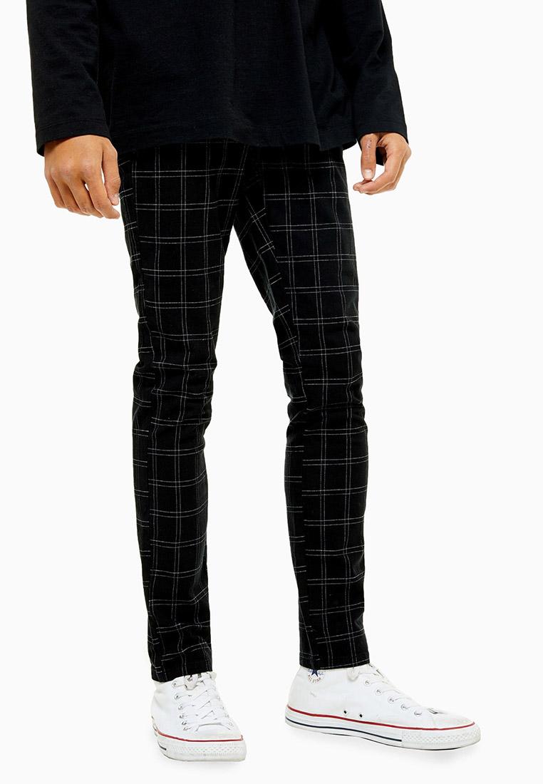 Мужские зауженные брюки Topman (Топмэн) 68F01TBLK