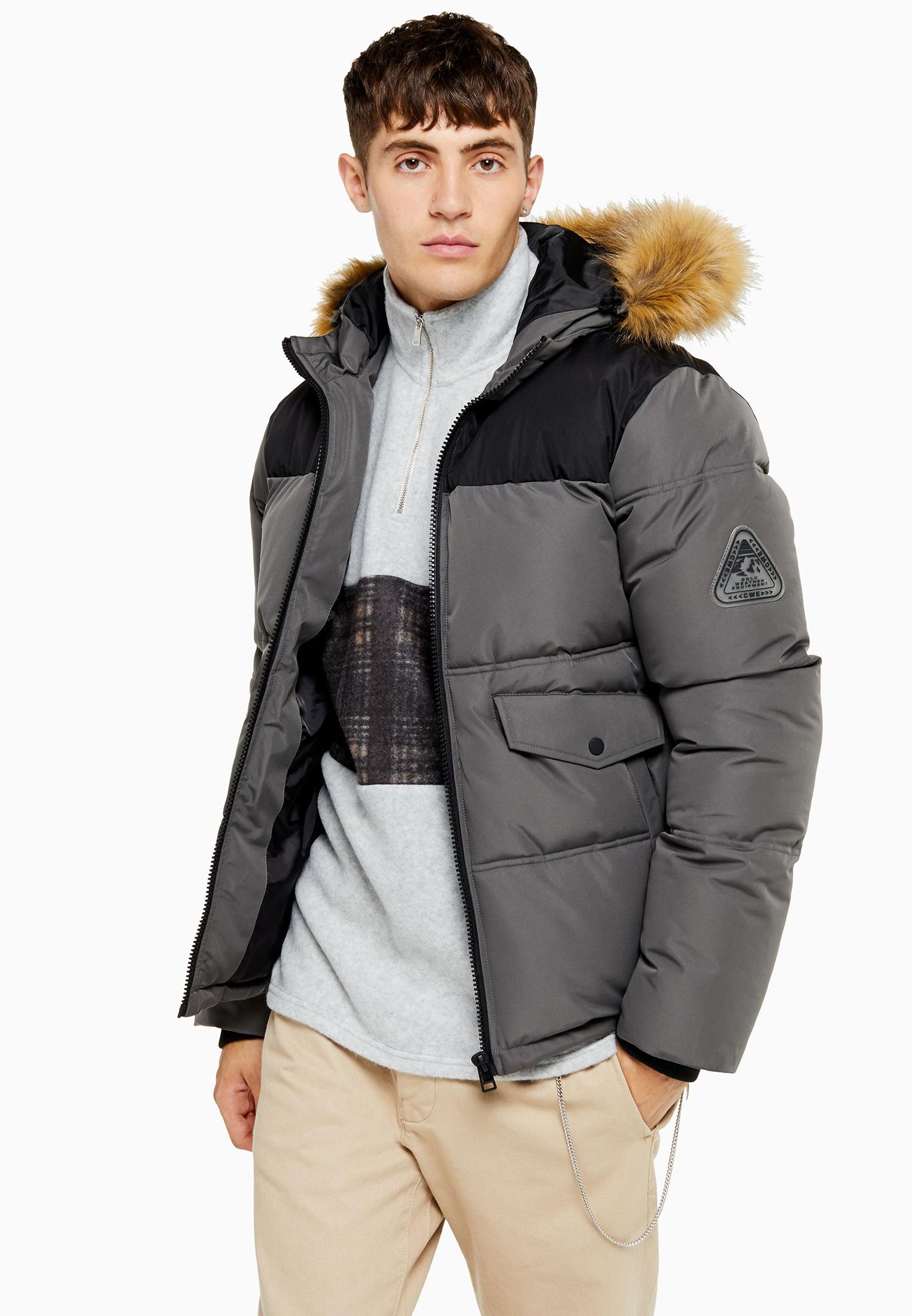 Утепленная куртка Topman (Топмэн) 64T02TGRY