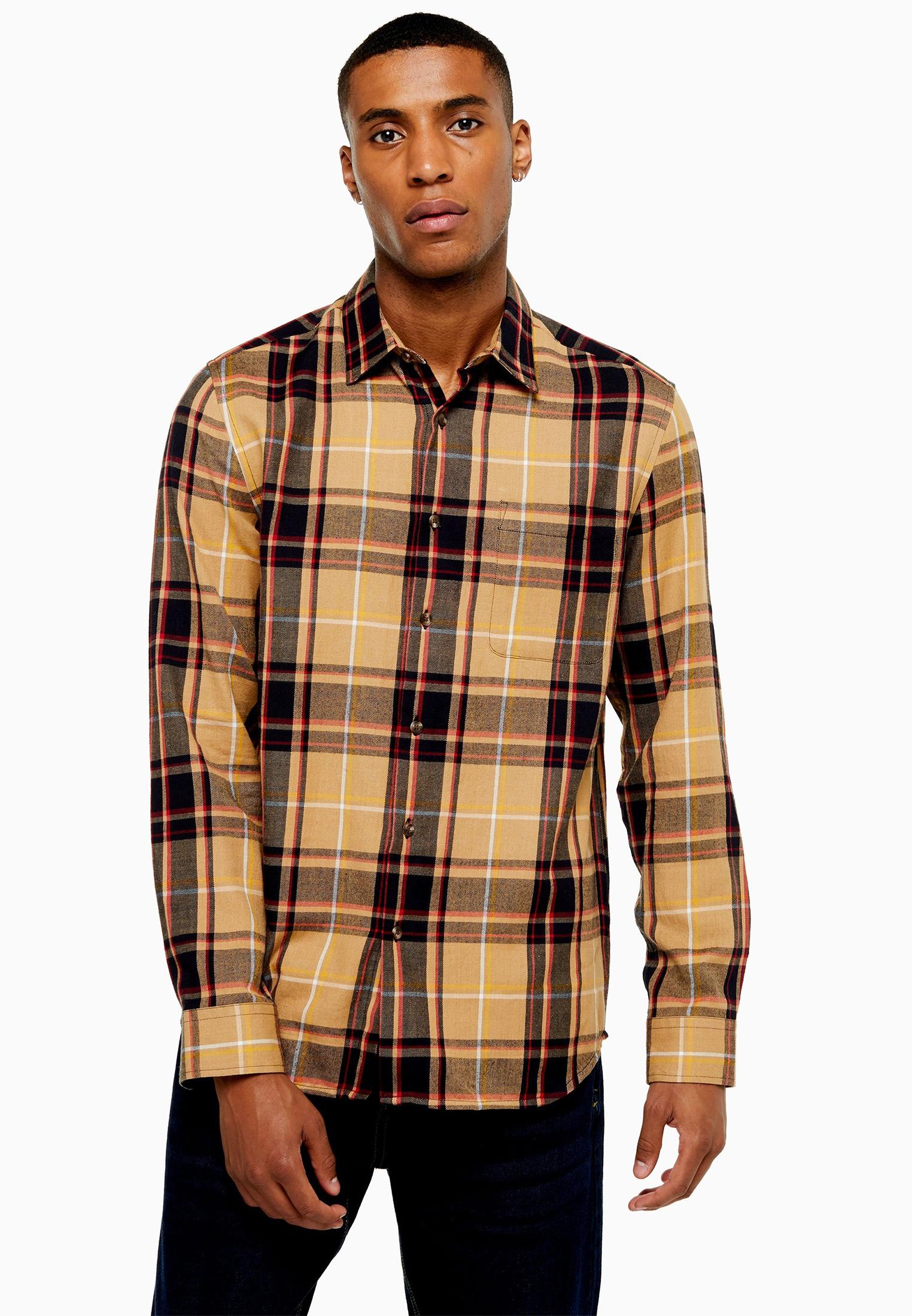Рубашка с длинным рукавом Topman (Топмэн) 83S01CSTN