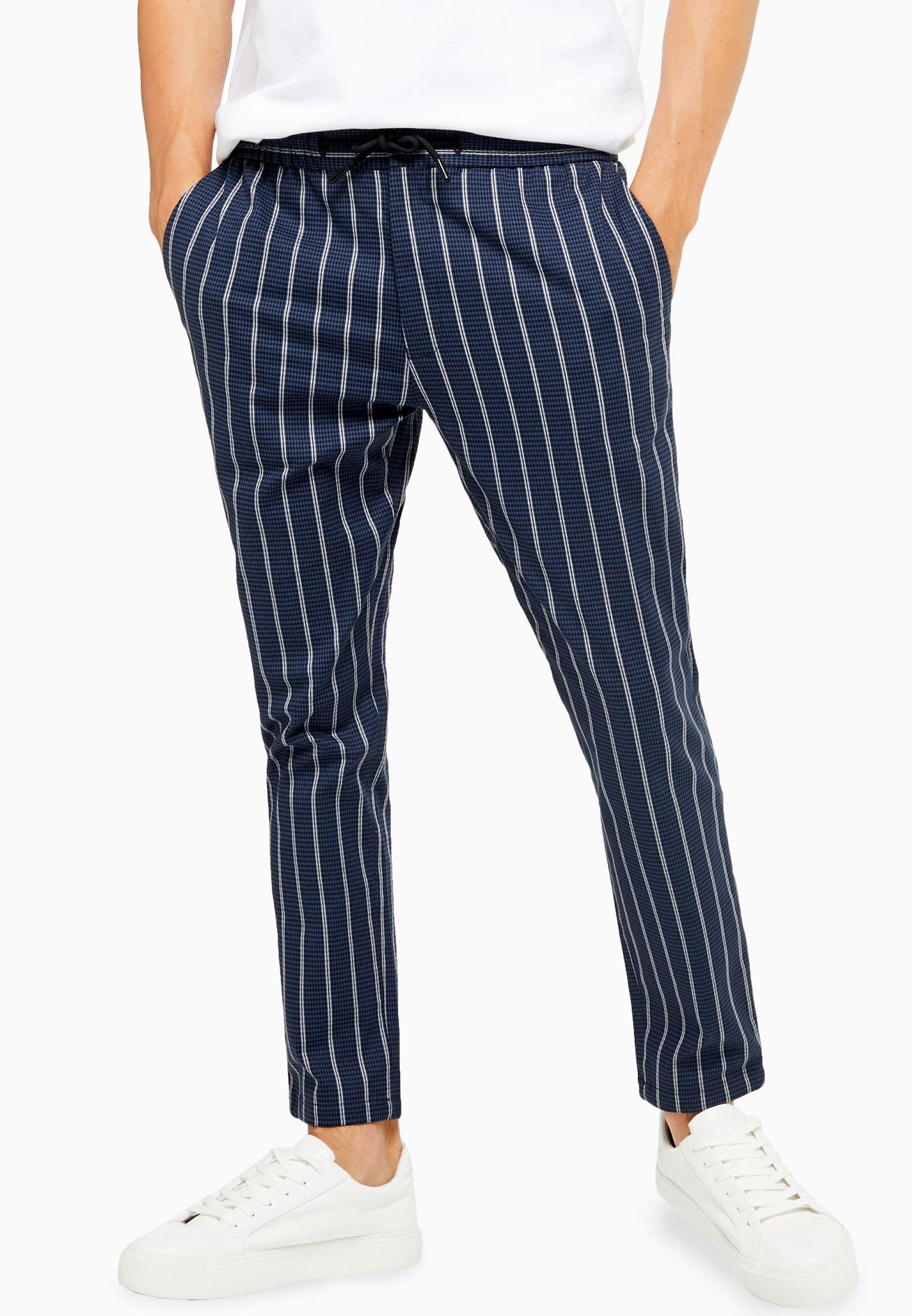 Мужские зауженные брюки Topman (Топмэн) 68F24TNAV