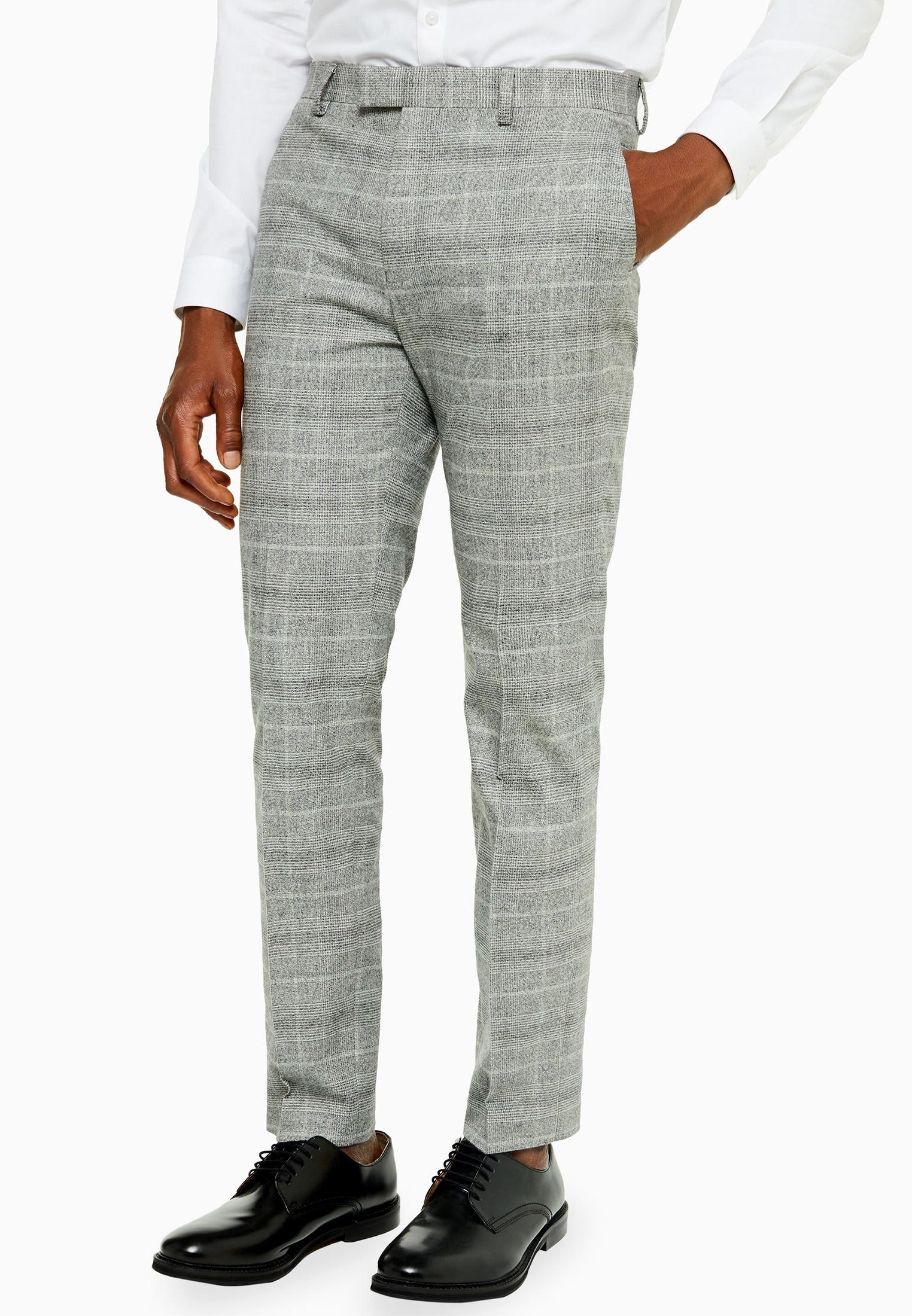 Мужские повседневные брюки Topman (Топмэн) 87T54TGRY
